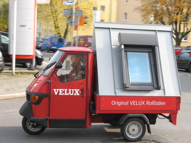 Der Velux Ape Transporter