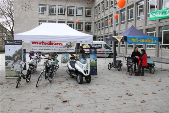 Der Informationsstand des Motodrom Essen auf der Veranstaltung Mobilität-Werk-Stadt