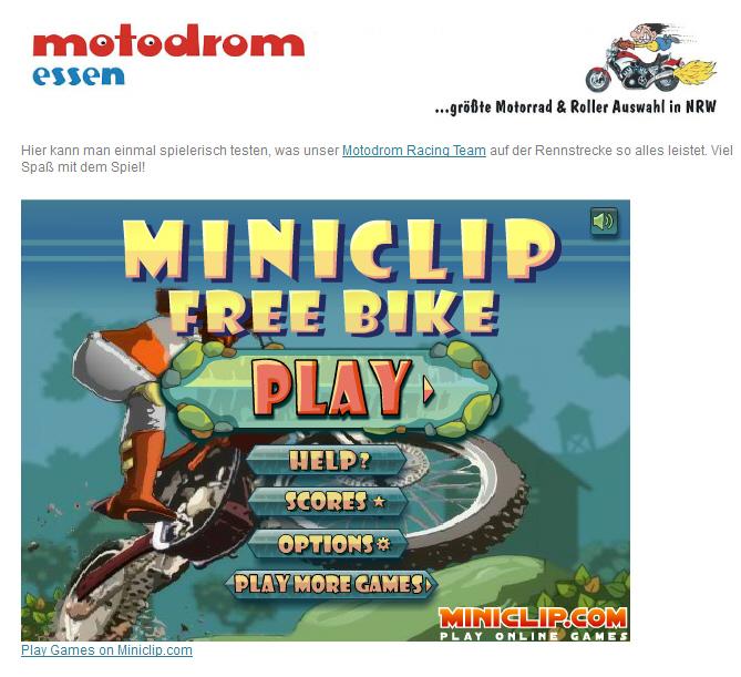 Motorrad-Spiel: Free Rider