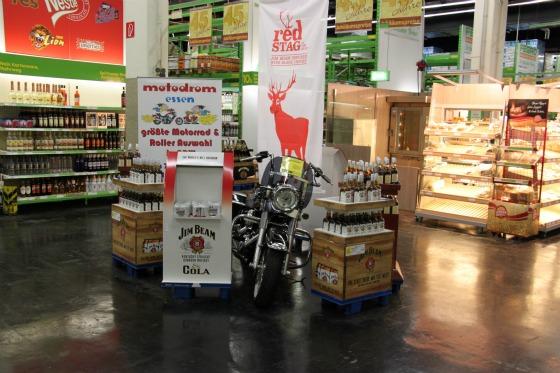 Motodrom stellt Harley für Jim Beam Promotion 1