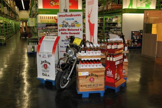 Motodrom stellt Harley für Jim Beam Promotion 2