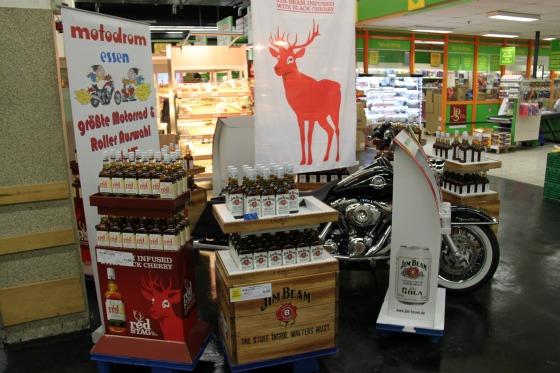 Motodrom stellt Harley für Jim Beam Promotion 3
