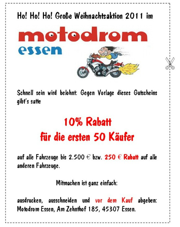 Ho! Ho! Ho! - Große Weihnachtsaktion 2011 im Motodrom Essen