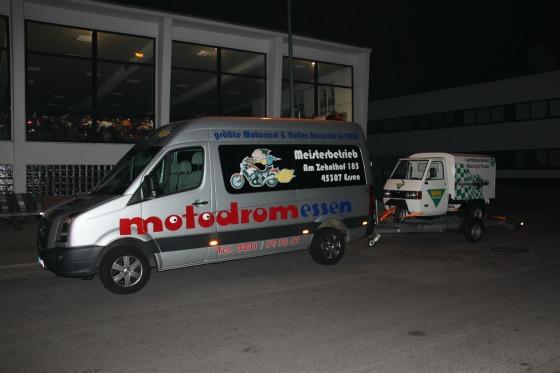 Ein Ape-Transporter für eine Promotion bei der SG Flensburg-Handewitt 001