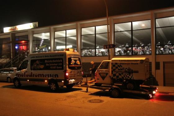 Ein Ape-Transporter für eine Promotion bei der SG Flensburg-Handewitt 002