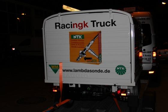 Ein Ape-Transporter für eine Promotion bei der SG Flensburg-Handewitt 003