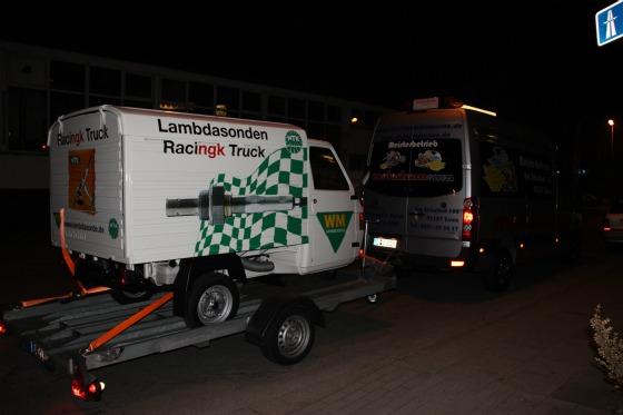 Ein Ape-Transporter für eine Promotion bei der SG Flensburg-Handewitt 004