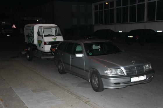 Ein Ape-Transporter für eine Promotion bei der SG Flensburg-Handewitt 005