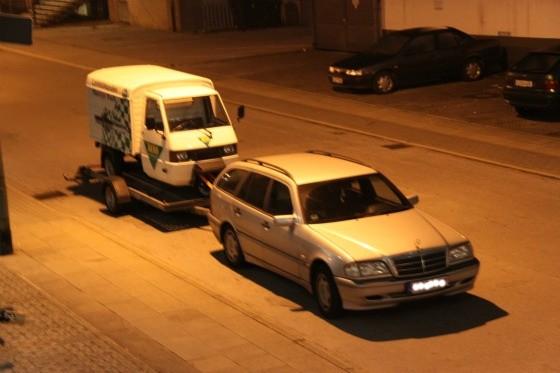 Ein Ape-Transporter für eine Promotion bei der SG Flensburg-Handewitt 006