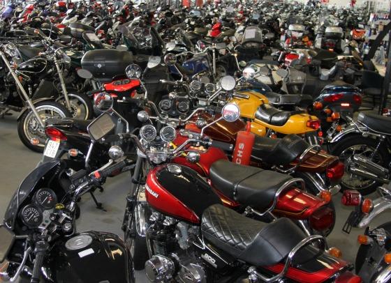 Motorrad-Stillleben