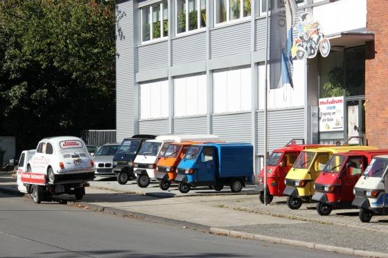 Eine LKW-Ladung Ape Transporter für das Motodrom Essen 007