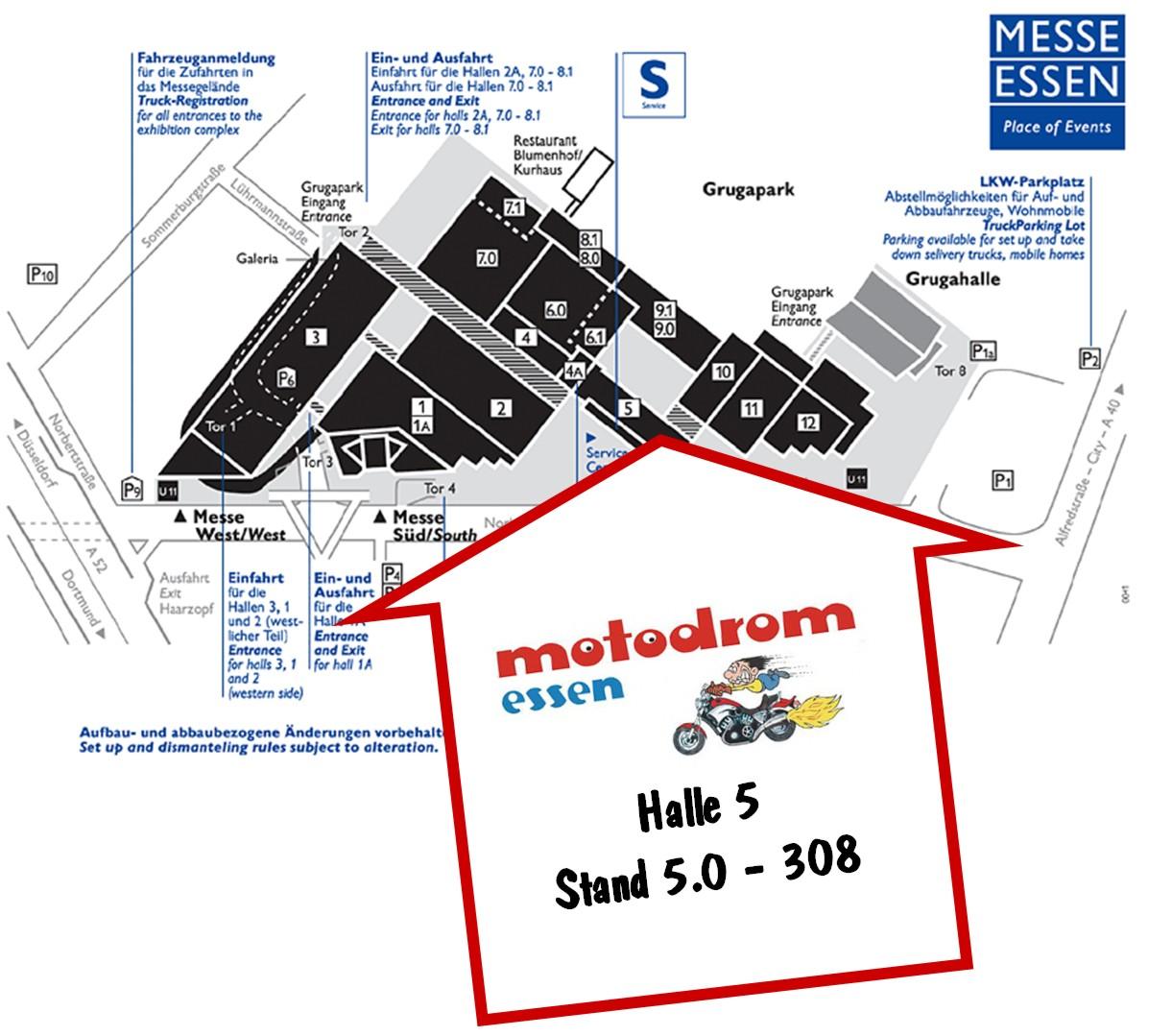 Standort des Motodrom Essen auf der Techno Classica 2012